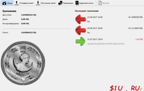 Selen coin wallet